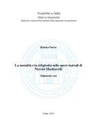 prikaz prve stranice dokumenta La moralità e la religiosità nelle opere teatrali di Niccolò Machiavelli