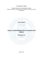 prikaz prve stranice dokumenta Analyse terminologique dans le domaine de la culture