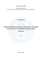 prikaz prve stranice dokumenta Društvena kritika kroz prizmu naturalizma u romanima É. Zole (Nana) i E. Kumičića (Gospođa Sabina)