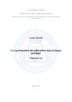 prikaz prve stranice dokumenta La représentation des collocations dans la langue juridique