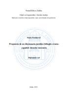 prikaz prve stranice dokumenta Propuesta de un diccionario jurídico bilingüe croataespañol: derecho sucesorio
