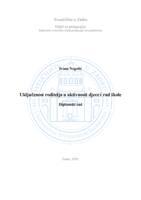 prikaz prve stranice dokumenta Uključenost roditelja u aktivnosti djece i rad škole