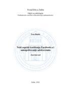 prikaz prve stranice dokumenta Neki aspekti korištenja Facebook-a i samopoštovanje adolescenata