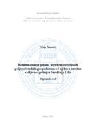 prikaz prve stranice dokumenta Komuniciranje putem Interneta obiteljskih poljoprivrednih gospodarstava i njihova mrežna vidljivost: primjer Središnje Like