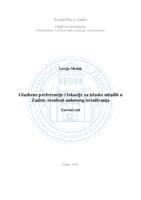 prikaz prve stranice dokumenta Glazbene preferencije i lokacije za izlaske mladih u Zadru: rezultati anketnog istraživanja