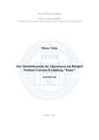 """prikaz prve stranice dokumenta Zur Identitätssuche im Alpenraum am Beispiel Norbert Gstreins Erzählung """"Einer"""""""