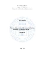 prikaz prve stranice dokumenta Autonomija predmetnih nastavnika/ica s obzirom na Školu za život