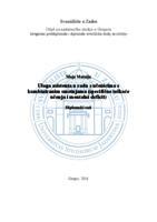 prikaz prve stranice dokumenta Uloga asistenta u radu s učenicima s kombiniranim smetnjama (specifične teškoće učenja i mentalni deficit)
