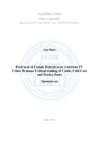 prikaz prve stranice dokumenta Portrayal of Female Detectives in American TV Crime Dramas: Critical reading of Castle, Cold Case and Jessica Jones